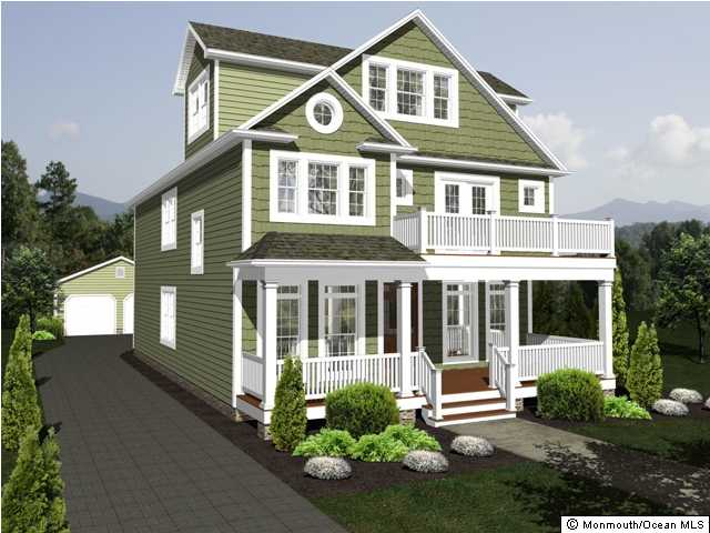Floor Front Elevation Jersey : New construction spring lake jersey waterfront and